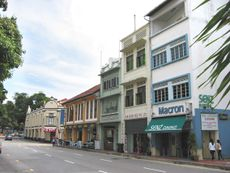 The relative position of Rairua amongst the shophouses along Neil Road.