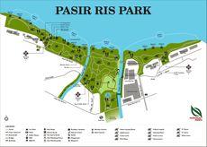 A map of Pasir Ris Park, off Elias Road.