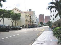 The row of shophouses along Upper Circular Road in which Club One-Seven is nested.