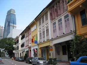The row of shophouses along Ann Siang Road where Stroke sauna was located.