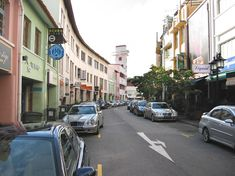 Rows of shophouses lining Circular Road, where RAV is located.