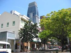 Shophouses along Telok Ayer Street, where Shogun Spa is located.
