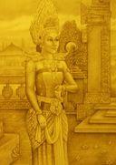 Painting of Panji Semirang by a Malaysian artist.