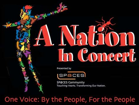 "Advertisement for the ""A Nation in Concert"" charity event."