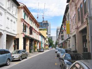 Rows of shophouses along Tras Street, where Alternative Bar is located.