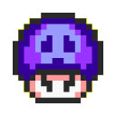 "The Poison Mushroom's appearance in ""Super Mario All-Stars"", for comparison."
