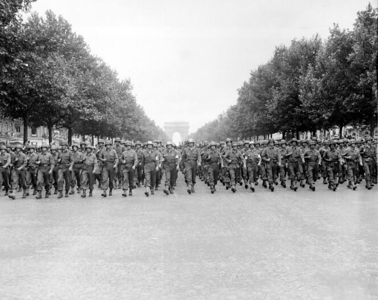 File:American troops march down the Champs Elysees.jpg