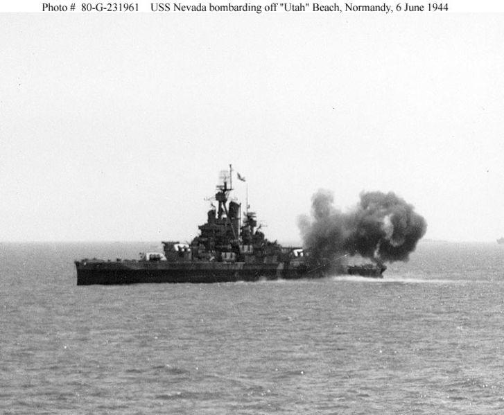 File:USS Nevada-firing on D-Day at Utah Beach.jpg