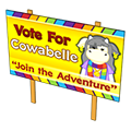 Cowabellecowolineelectionsign.png