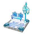 Snowflakepondbench.png