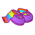 Rainbowfairyslippersandsocks.png