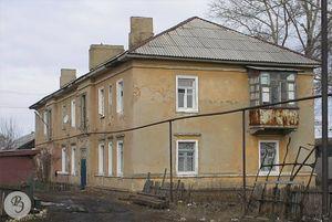Дом № 2 на бывшей улице Саратовский тупик 1940 года постройки (ныне № 63 по улице Железнодорожной)