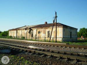 Бывшее станционное здание. Вид в сторону Тамбова (2011)