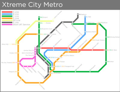 XtremeCity Metro Map.png