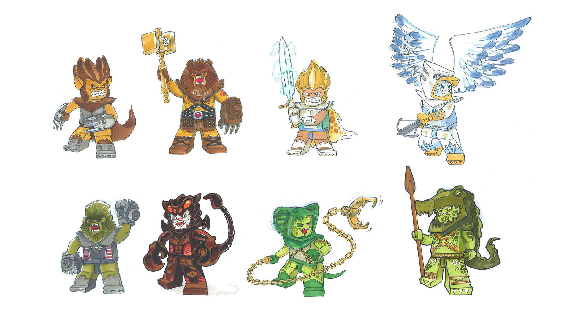 вся очередь персонажи лего чима пусть поможет, веру