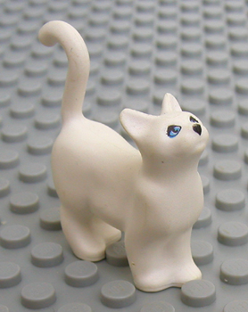 Black Duplo Animal Cat Standing w// White Chest /& Mouth // Pink Nose LEGO