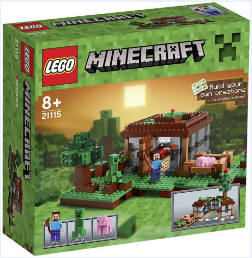 Lego STEVE Minifigure Minecraft 21113 21114 21115 21116