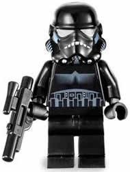 LEGO Star Wars Shadow Stormtrooper From Sets 7667 and 7664