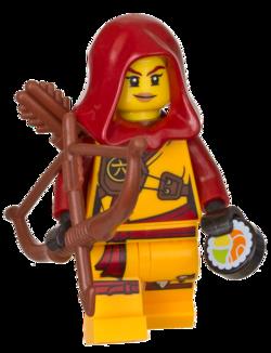 LEGO Ninjago Skylor Elemental Master of Amber Minifigure 70651 Hunted Mini Fig